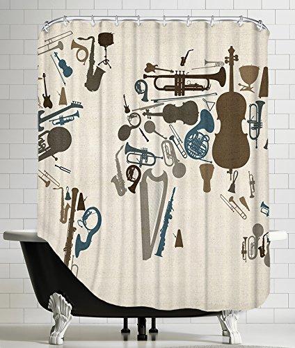 Amazon American Flat Musical Instrument Map Art Pause Shower