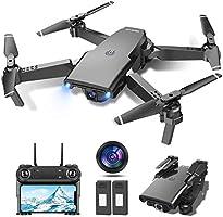 tech rc Drone avec Caméra 1080P HD WiFi FPV Télécommande WiFi APP, Drone Positionnement de Flux Optique, Voler par...