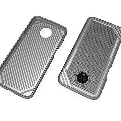 Caja texturizada a prueba de golpes suave TPU para Motorola Moto Z3 Play ( Color : Gray ) Gray