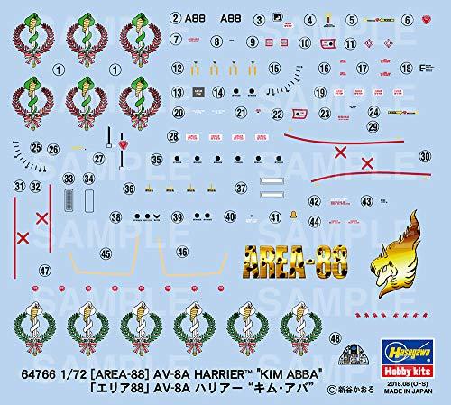 Hasegawa 64766 Area-88 AV-8A Harrier Kim Aba 1/72 Scale kit