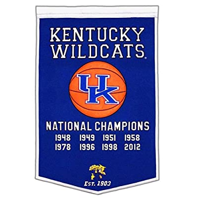 Kentucky Wildcats College Basketball National Champions Dynasty Banner - 2'x3' Big!