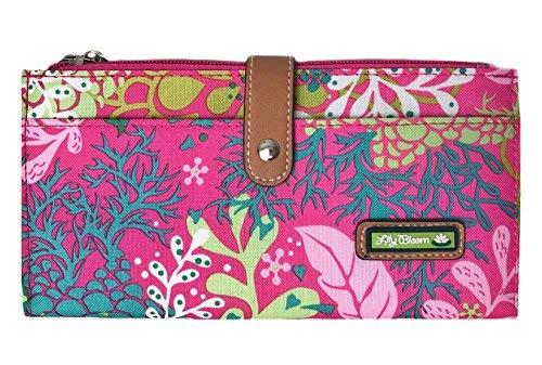 Lily Bloom Large Travel Wallet - LIZA Wallet (Floral Reef-Pink)