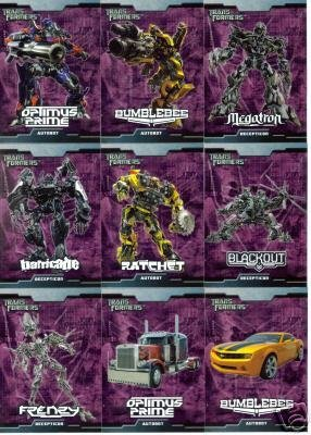 Transformers The Movie 90 Card Collectors Set - Includes All Your Favorite Characters- Shipped in a protective storage box! Topps