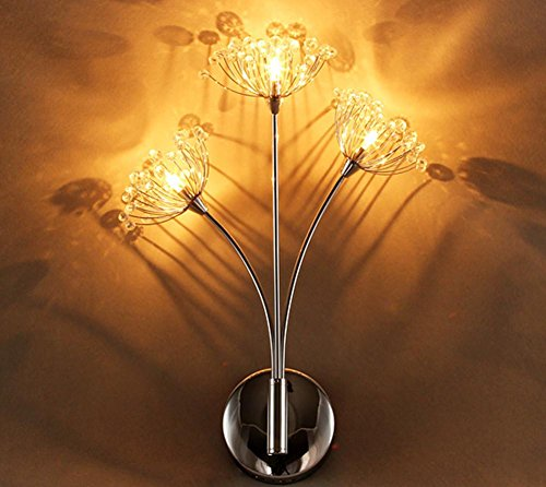 Dandelion Crystal Led Modern Simple Creative Button-Style Wall Lamp Living Room Bedside Lamp Bedroom Stairs European Warm Wedding Wall Lamp (30 42Cm) by DMMSS