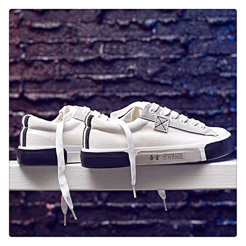 Uciquzhon 2018 Harajuku Casual Shoes Women Flats Fashion Women Canvas Shoes Spring Autumn for Woman Sneaker Basket Femme White 35
