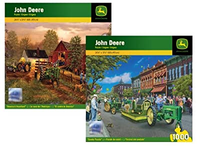 John Deere Puzzle 2-pack Bundle from Masterpieces Puzzles