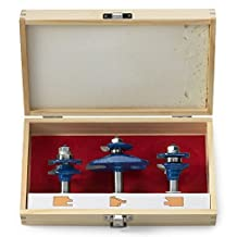 Neiko?10111A Ogee Cutter Router Bit Set for Cabinets, Handrails and Other Wood Surfaces   1/2-inch Shank   3-Piece Set by Ridgerock Tools Inc.