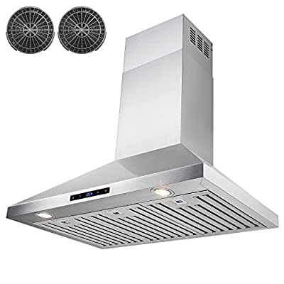 FIREBIRD Stainless Steel Wall Mount Range Hood, 36-Inch, Carbon Filters Included
