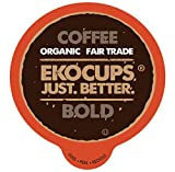 EKOCUPS Artisan Organic Bold Coffee, Dark roast, in Recyclable Single Serve Cups for Keurig K-cup Brewers, 40 count Review