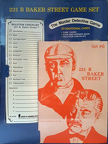 221 B Baker Street Game Set – Set #8 – 20 Additional Cases