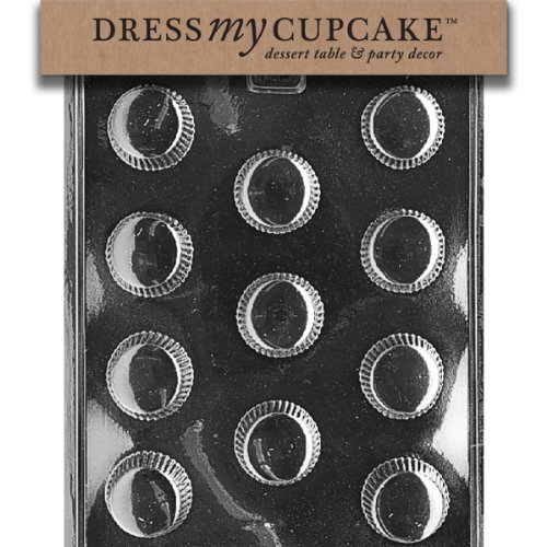 Dress My Cupcake DMCAO032 Chocolate Candy Mold, Medium Peanut Butter Cup