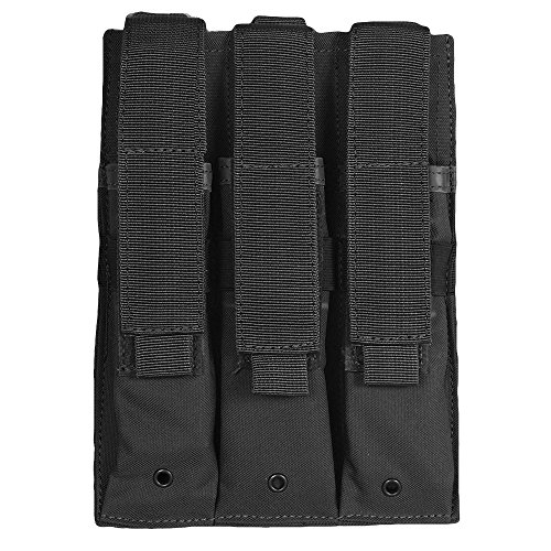 Fox Outdoor Triple MP 5 Mag Pouch Black