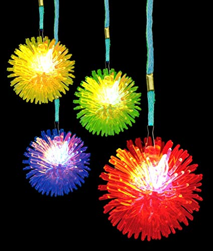 Fun Central AC689 LED Porcupine Necklaces - Assorted - -