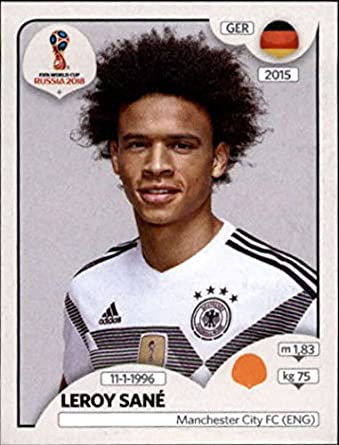 factory price 1c0ff a50df Amazon.com: 2018 Panini World Cup Stickers Russia #446 Leroy ...