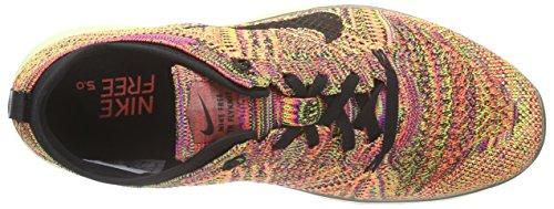Nike Vrouwen Vrije Tr Flyknit Hyper Oranje / Zwart / Nauwelijks Volt Hardloopschoen 8 Vrouwen Ons
