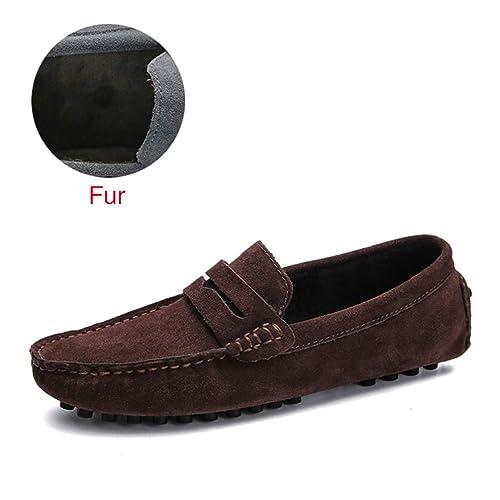 Moda Suave Mocasines Hombres Mocasines Zapatos De Cuero Hombres Pisos: Amazon.es: Zapatos y complementos