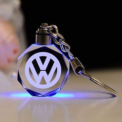 Fitracker - Llavero con luz LED de cristal para coche con caja de regalo