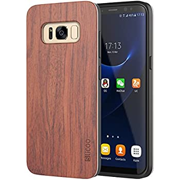 Slicoo Nature Series Wood Slim Covering Case for Galaxy S8 (Rosewood)