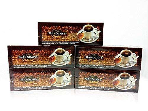 5 boxes Gano Excel GanoCafe Classic Ganoderma Black Coffee