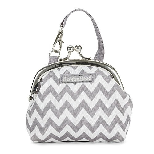 orn, PaciPurse, Purse, Pacifier Case, PaciGrip, Pacifier Clip, Holder, Pacifier, Soothie, Gray Chevron ()
