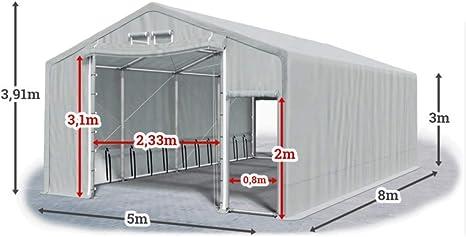 LAGERZELT 6x12m Ganzjährig 2,5m Höhe PVC 600g Industriezelt WEIDEZELT Lagerhalle