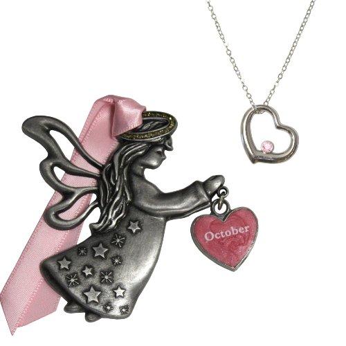Gloria Duchin October Birthstone Angel Ornament Gift Set