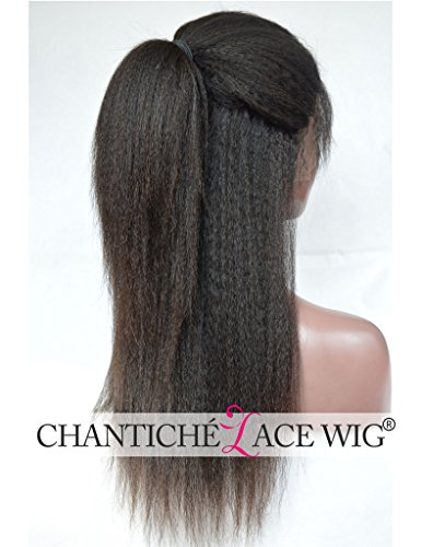 Chantiche Natural Looking Italian Yaki Glueless Full Lace Wigs with Baby Hair for Black Women Best Brazilian Remy Human Hair Wig 130 Density 16inch Natural Color by Chantiche Lace Wig (Image #5)