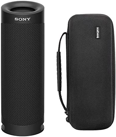 Sony SRSXB23 Additional BASS Bluetooth Wi-fi Transportable Speaker (Black) Knox Gear Hardshell Journey & Protecting Case Bundle (2 Objects)