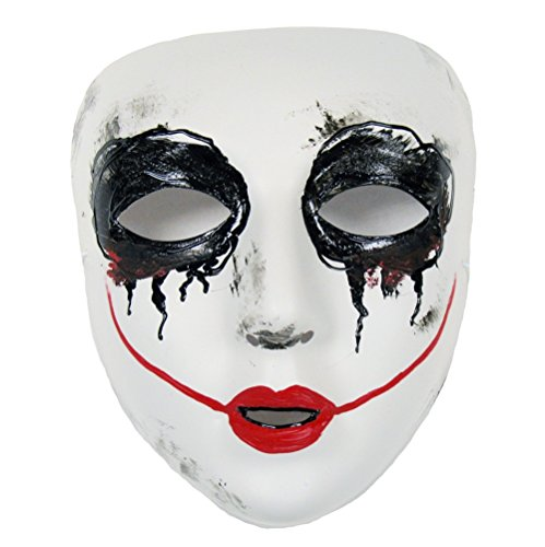 Success Creations Smiley Similar Purge Scary Masquerade Mask for Men and Women White -