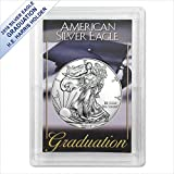 #2: 2018 American Silver Eagle in (Graduation Harris Gift Holder) $1 US Mint Brilliant Uncirculated