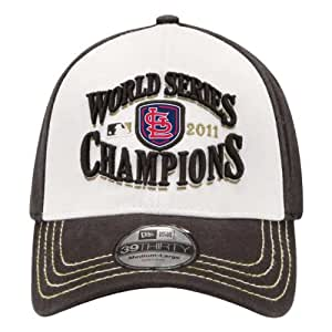 MLB St. Louis Cardinals 2011 World Series Champions Locker Room Cap (Black/White, One Size Fits All)