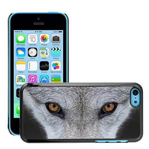 Premio Sottile Slim Cassa Custodia Case Cover Shell // V00002130 yeux de loup // Apple iPhone 5C