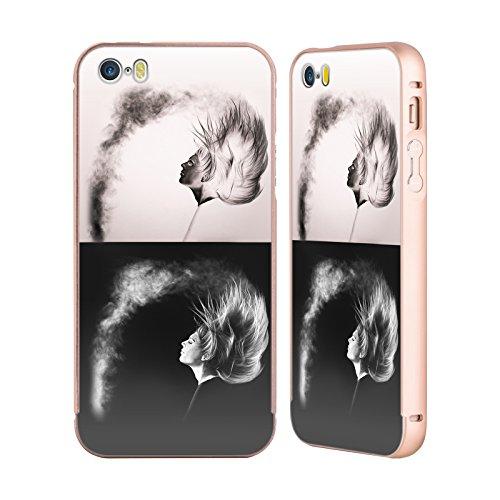 Officiel Graham Bradshaw Négatif Inversé Illustrations Or Étui Coque Aluminium Bumper Slider pour Apple iPhone 5 / 5s / SE