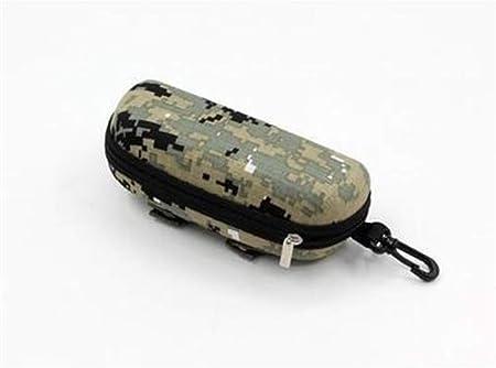 ZRDY Caja De Gafas De Sol De Camuflaje Caja De Gafas Militares Estuches De Anteojos De EVA Gafas For Hombre con Contenedor De Lentes con Clip De Cinturón (Color : Green): Amazon.es: