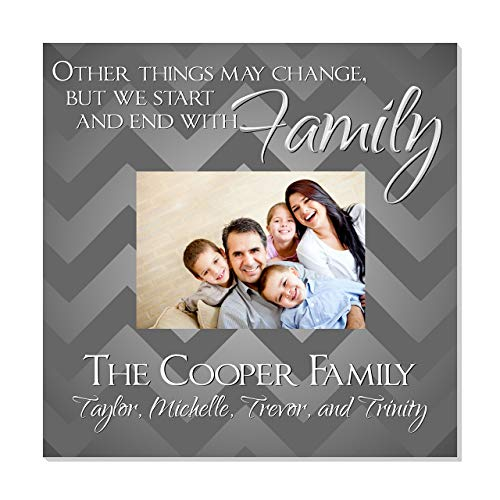 """Personalized Family Picture Frame for 5"""" x 7"""" Photo 12"""" x 12"""" Overall Size"""