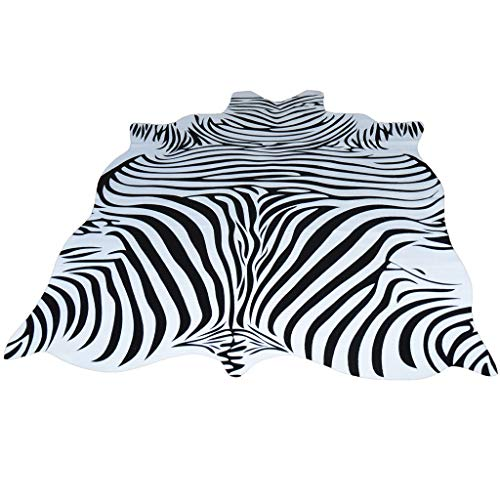- Rugs Zebra Striped Carpet Living Room Black White Carpet Bedroom Bedside Mat Office Area Coffee Table Mat (Color : Black, Size : 140x200cm)