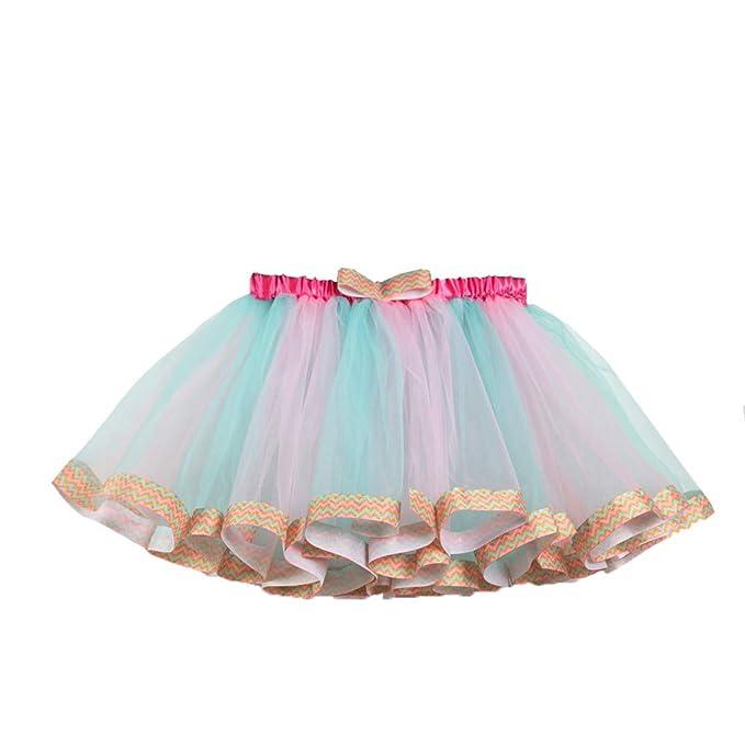 QinMMROPA Falda de Ballet de Baile tutú para niñas Disfraz de niña ...