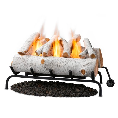 Real Flame 24' Convert-to-Gel Log Set In Birch
