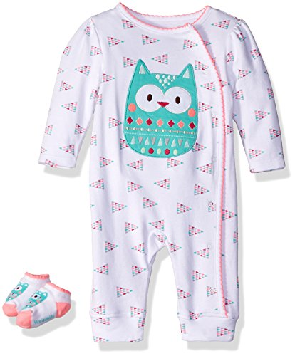 Vitamins Baby Baby Girls' Coverall Set 2 Piece, Owl, 9 Months