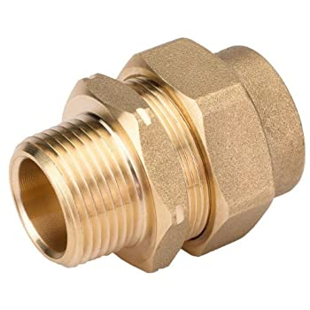 HomeFlex 11-436-007 3/4-Inch Brass Corrugated Stainless Steel Tubing  x MIPT Male Adapter