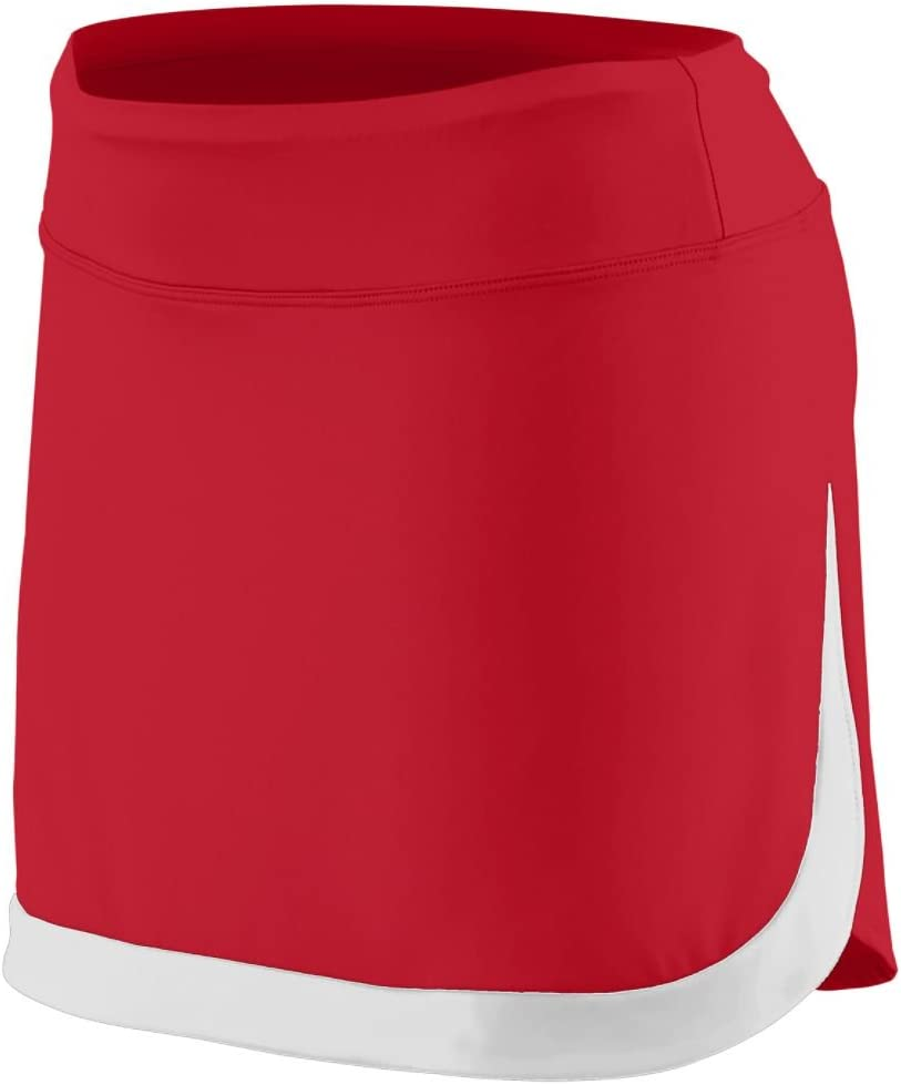 Augusta Sportswear Women'S Action Color Block Skort 2Xl Red/White