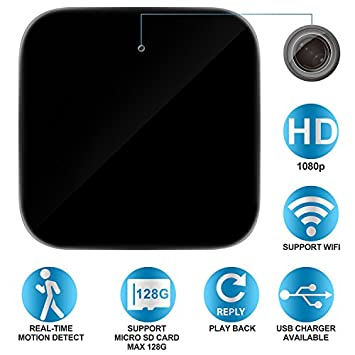 Spy Camera, Hidden Camera in USB Power Adapter WiFi Hidden Cameras 1080P Video Recorder Wireless IP Camera for Indoor Home Security Monitoring Nanny Cam Motion Detection Support 128GB Micro SD Card