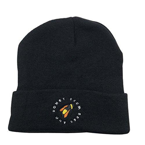 CZZYTPKK Golf Wang Warm Winter Hat Knit Beanie Skull Cap Bee Embroidered Soft Headwear Black (Tyler Beanie)