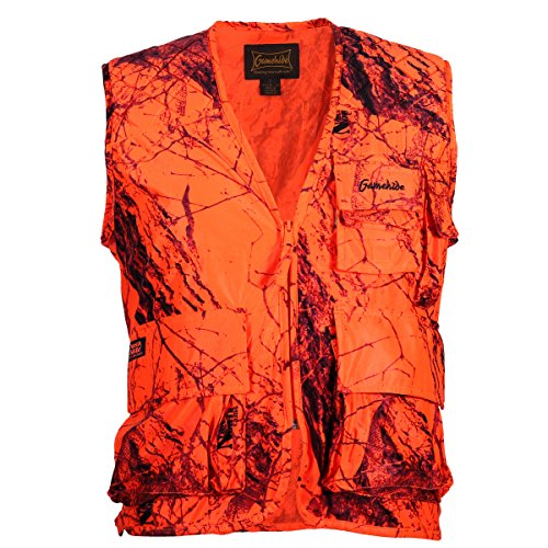 - Gamehide Sneaker Big Game Vest Blaze Camo, Large
