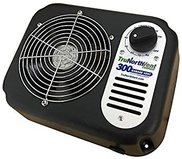 Garage Vent 300 CFM Improve Air Quality and rid Your Garage of unwanted Humidity, Moisture, Mold, Mildew, Odor, and Contaminants. Wall Mounted Garage Ventilation Fan.
