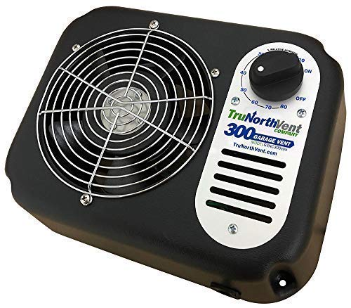 - Garage Vent 300 CFM | Improve Air Quality and rid Your Garage of unwanted Humidity, Moisture, Mold, Mildew, Odor, and Contaminants. Wall Mounted Garage Ventilation Fan.