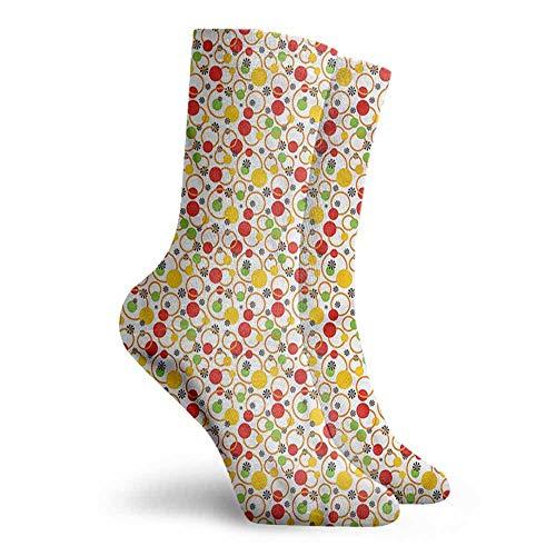 Patterned Socks Colorful Circles Dots Design Colorful Patterned Dress Socks -