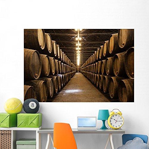 Wallmonkeys Wine Cellar Porto Wall Mural Peel and Stick Graphic (72 in W x 48 in H) WM362491