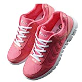 Fashion Brand Best Show Women's Mesh Breathable Light Weight Running Shoes (7.5 B(M) US, Rose Red)