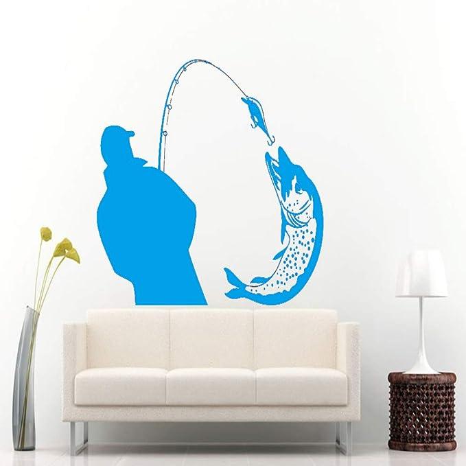 yiyiyaya Pescador Que atrapa un Gran pez con pez Poll Wall Mural ...